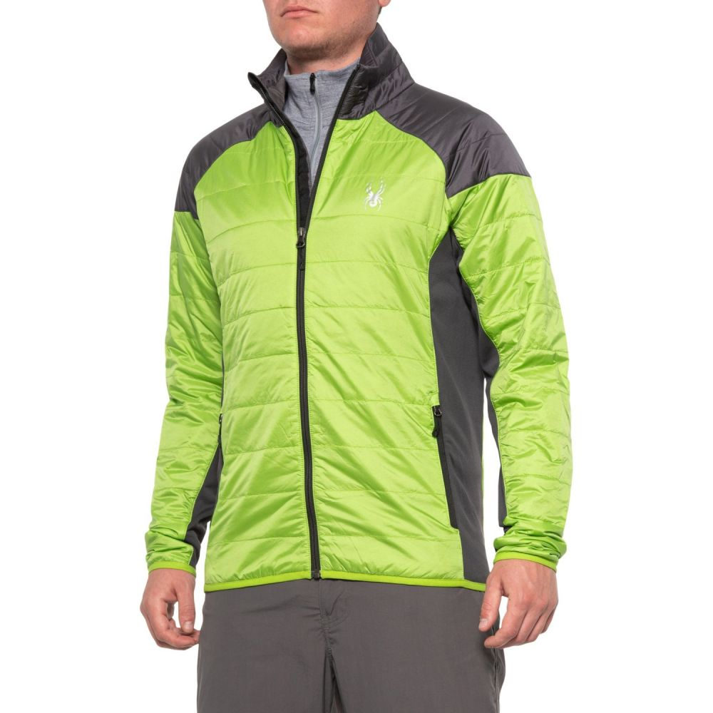 スパイダー Spyder メンズ スキー・スノーボード アウター【Glissade PrimaLoft Insulator Ski Jacket - Insulated】Fresh/Polar/Black