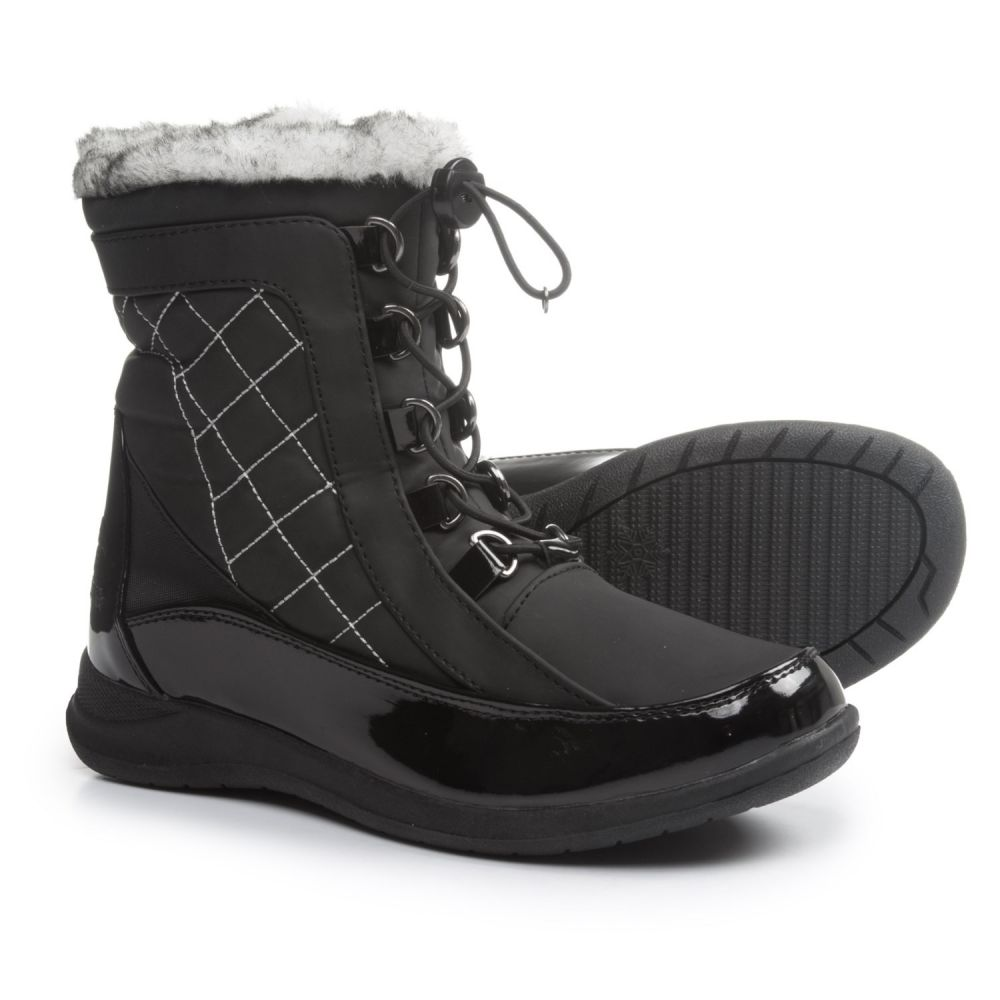 Boots Insulated】Black Quilted Snow Waterproof, Thinsulate レディース トーツ totes ブーツ【Natalie - シューズ・靴