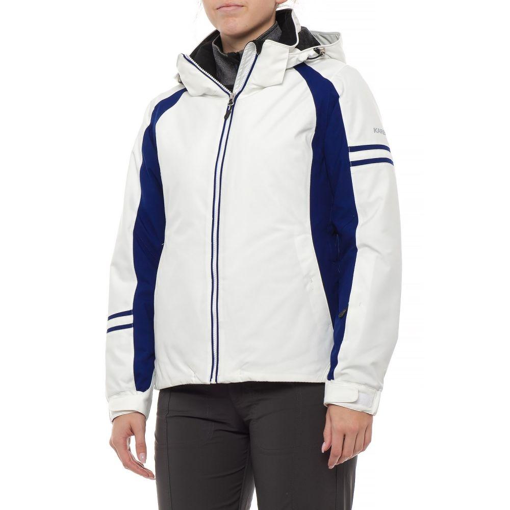 カーボン Karbon レディース スキー・スノーボード アウター【Nicol Ski Jacket - Waterproof, Insulated】Artic White/ Navy