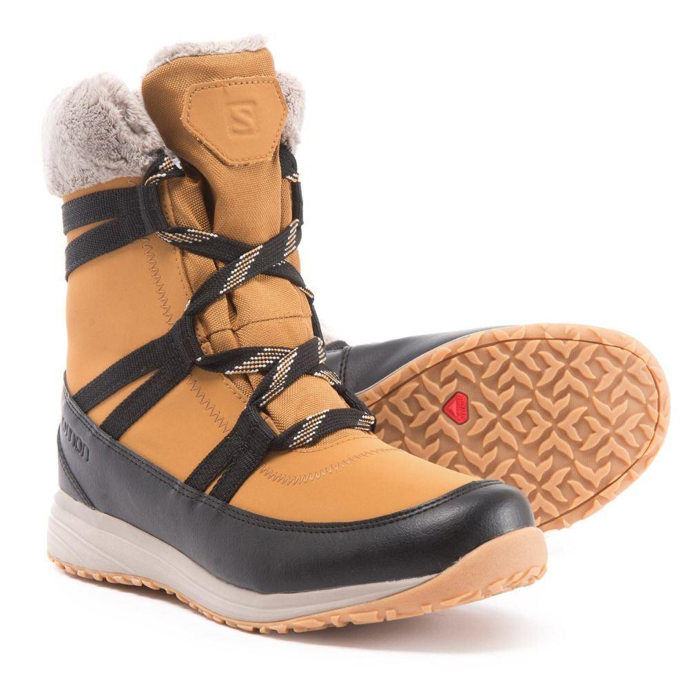 サロモン Salomon レディース シューズ・靴 ブーツ【Heika LTR CS Winter Boots - Waterproof, Insulated】Camel Gold/Black/Vint