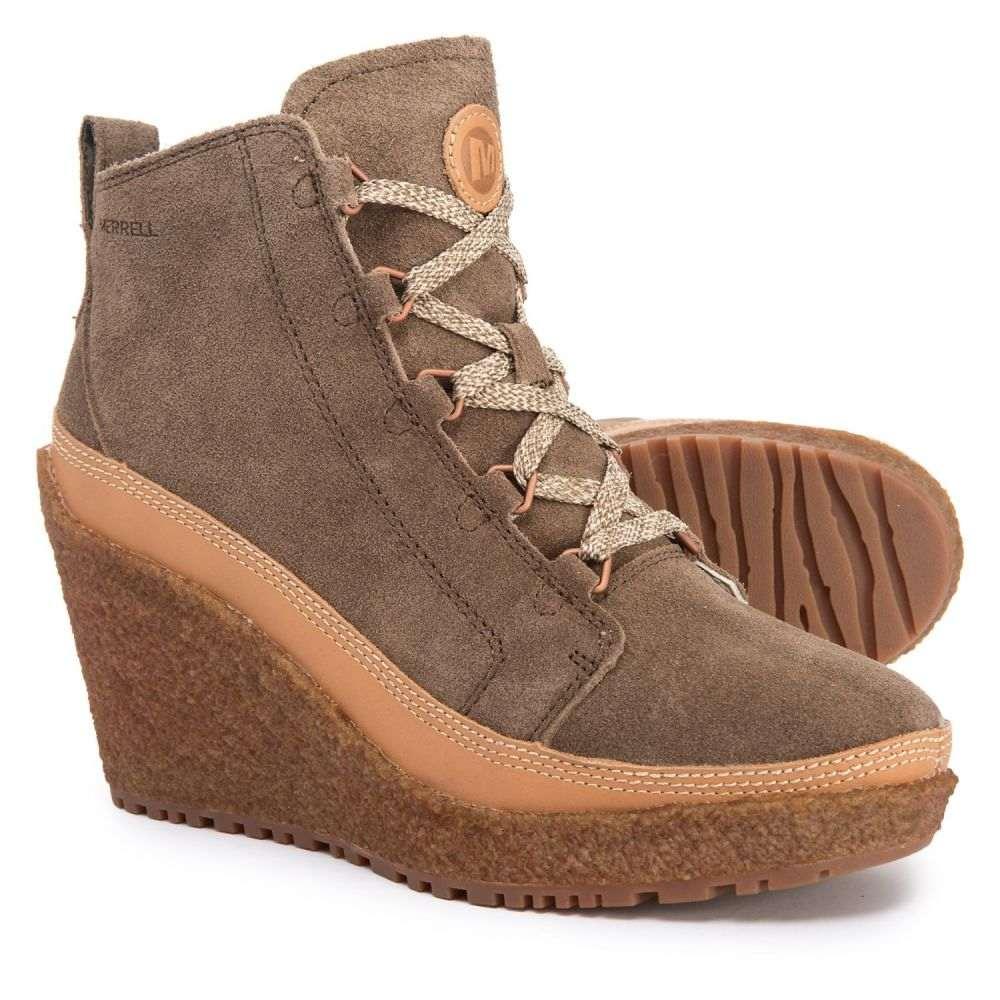 メレル Merrell レディース シューズ・靴 ブーツ【Tremblant Lace-Up Wedge Ankle Boots - Suede】Merrell Stone
