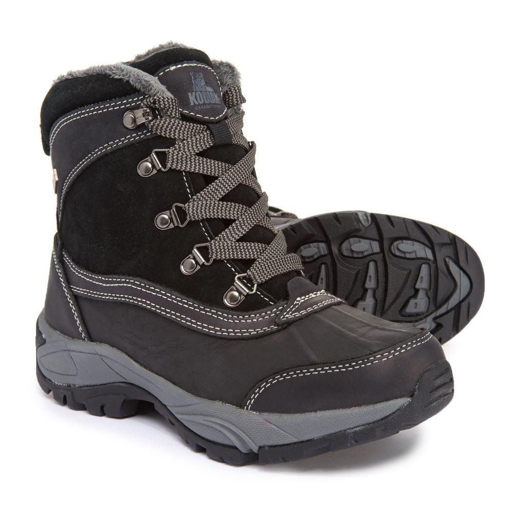 コディアック Kodiak レディース シューズ・靴 ブーツ【Renee Snow Boots - Waterproof, Insulated, Leather】Black