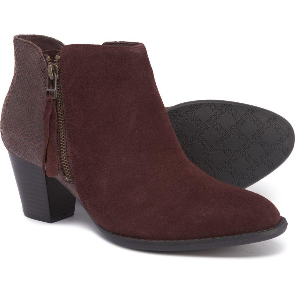 バイオニック Vionic レディース シューズ・靴 ブーツ【322 Anne Ankle Boots - Suede】Java Snake