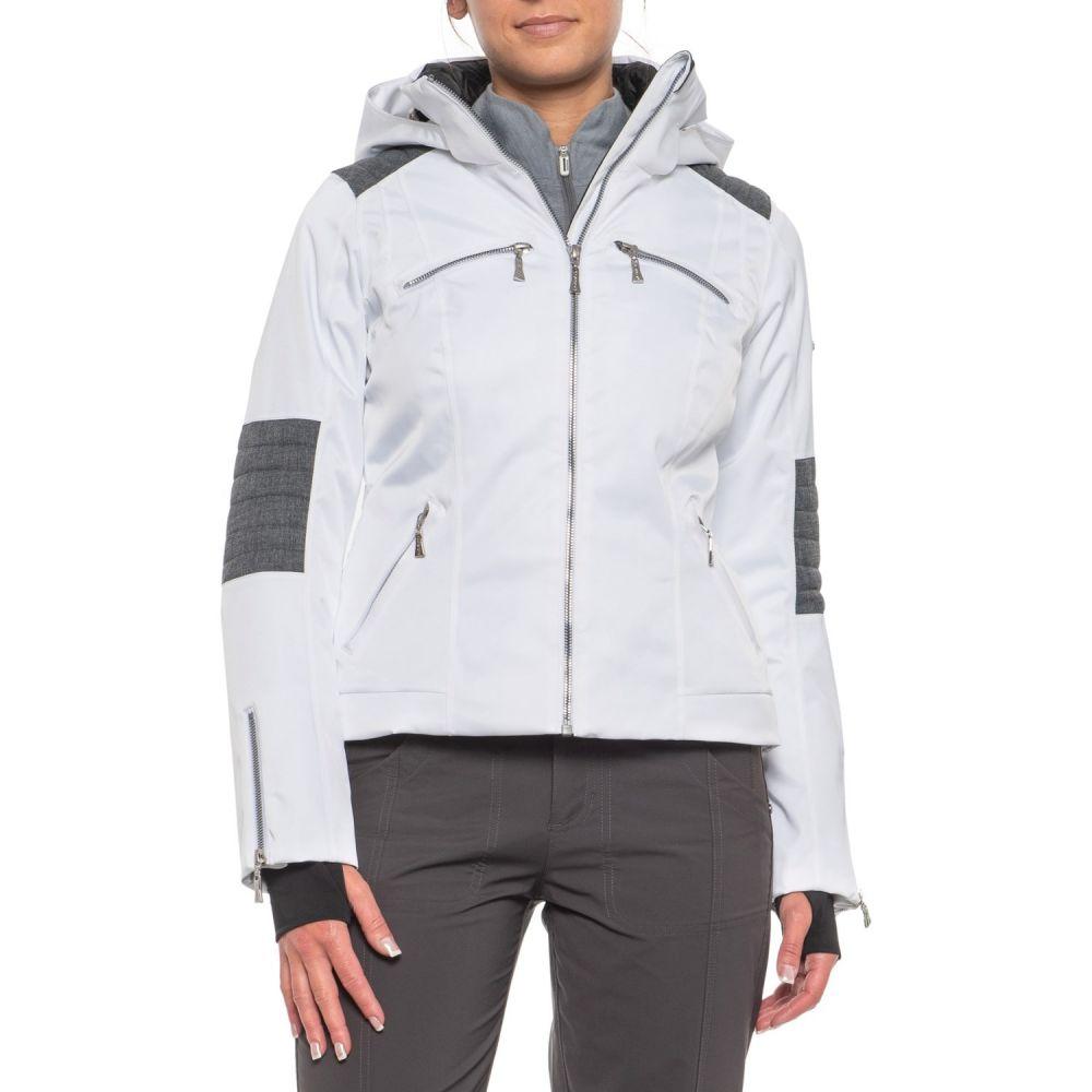 カーボン Karbon レディース スキー・スノーボード アウター【Pascal Ski Jacket - Waterproof, Insulated】White/Grey