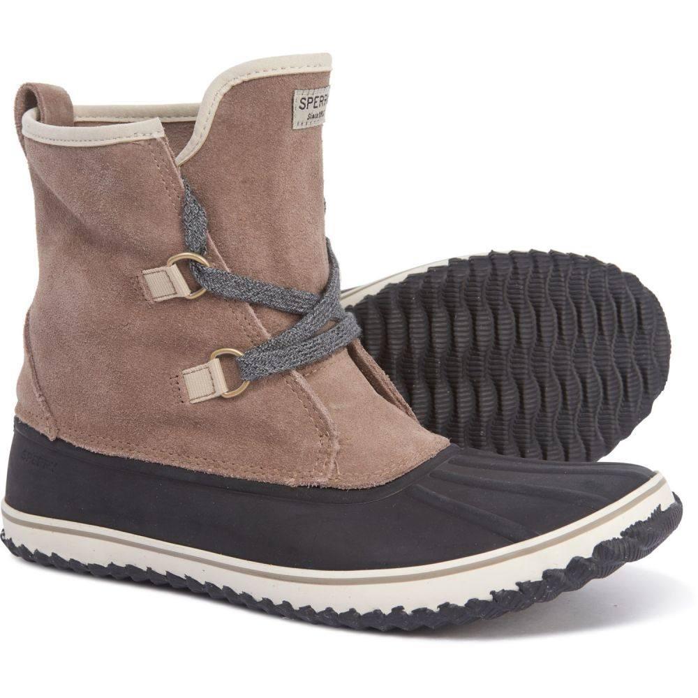 スペリー Sperry レディース シューズ・靴 ブーツ【Schooner Lace-Up Duck Boots - Suede】Tan/Black