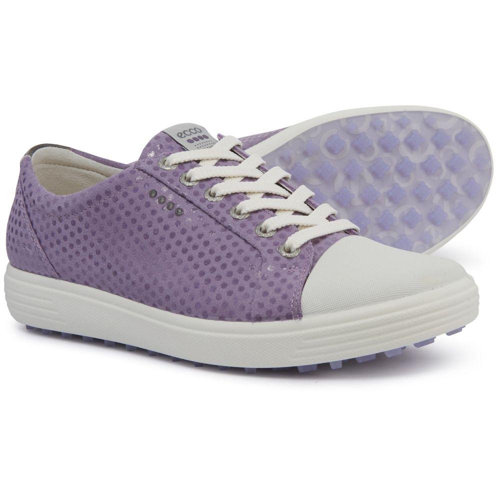 エコー ECCO レディース ゴルフ シューズ・靴【Casual Hybrid Golf Shoes - Leather】Purple Polly
