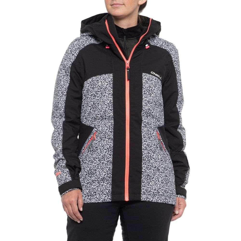オニール O'Neill レディース スキー・スノーボード アウター【Allure Ski Jacket - Waterproof, Insulated】White Aop/Black