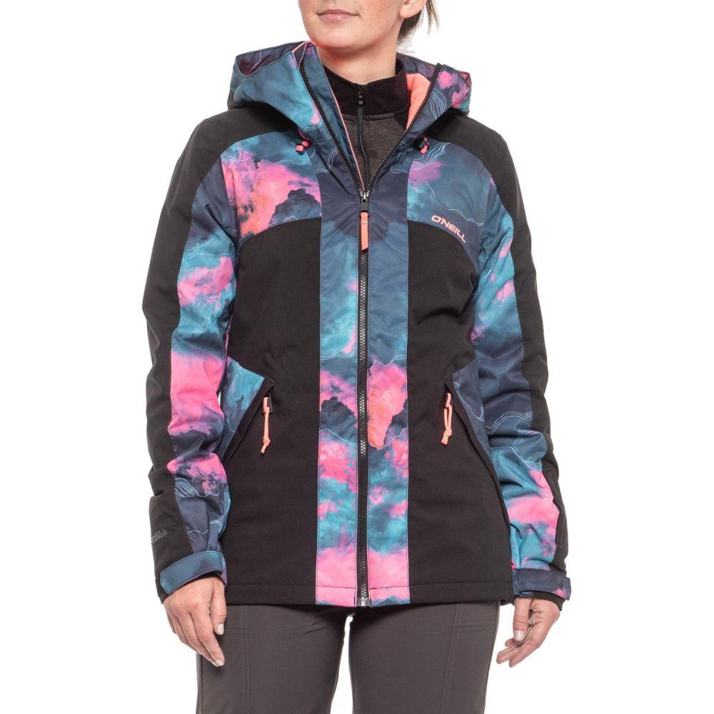 オニール O'Neill レディース スキー・スノーボード アウター【Allure Ski Jacket - Waterproof, Insulated】Blue Aop/Pink/Purple