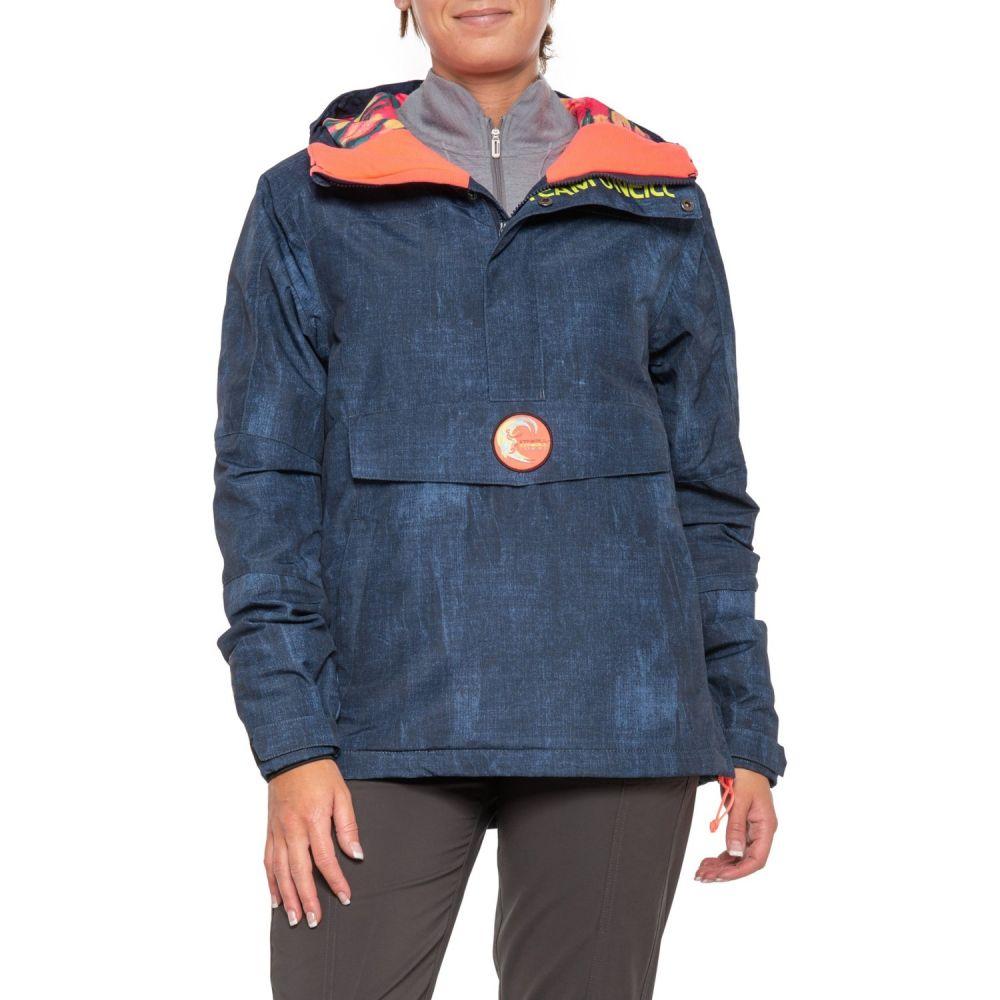 オニール O'Neill レディース スキー・スノーボード アウター【Frozen Wave Anorak Ski Jacket - Waterproof, Insulated】Blue Aop