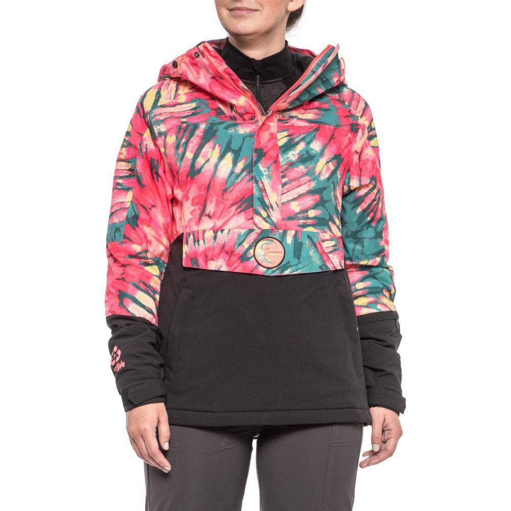 オニール O'Neill レディース スキー・スノーボード アウター【Frozen Wave Anorak Ski Jacket - Waterproof, Insulated】ピンク Aop/緑