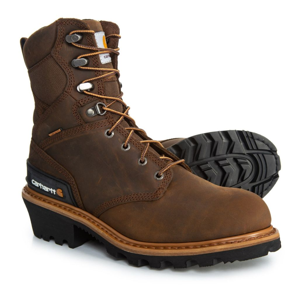 カーハート Carhartt メンズ ブーツ シューズ・靴【CML8169 8 Logger Boots - Waterproof, Insulated, Leather】Fudge Crazy Horse