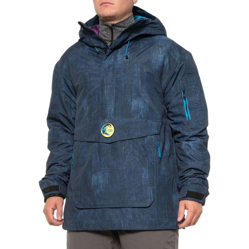 オニール O'Neill メンズ スキー・スノーボード アノラック ジャケット アウター【PM Frozen Wave Zip Neck Anorak Ski Jacket - Waterproof, Insulated】Blue Aop