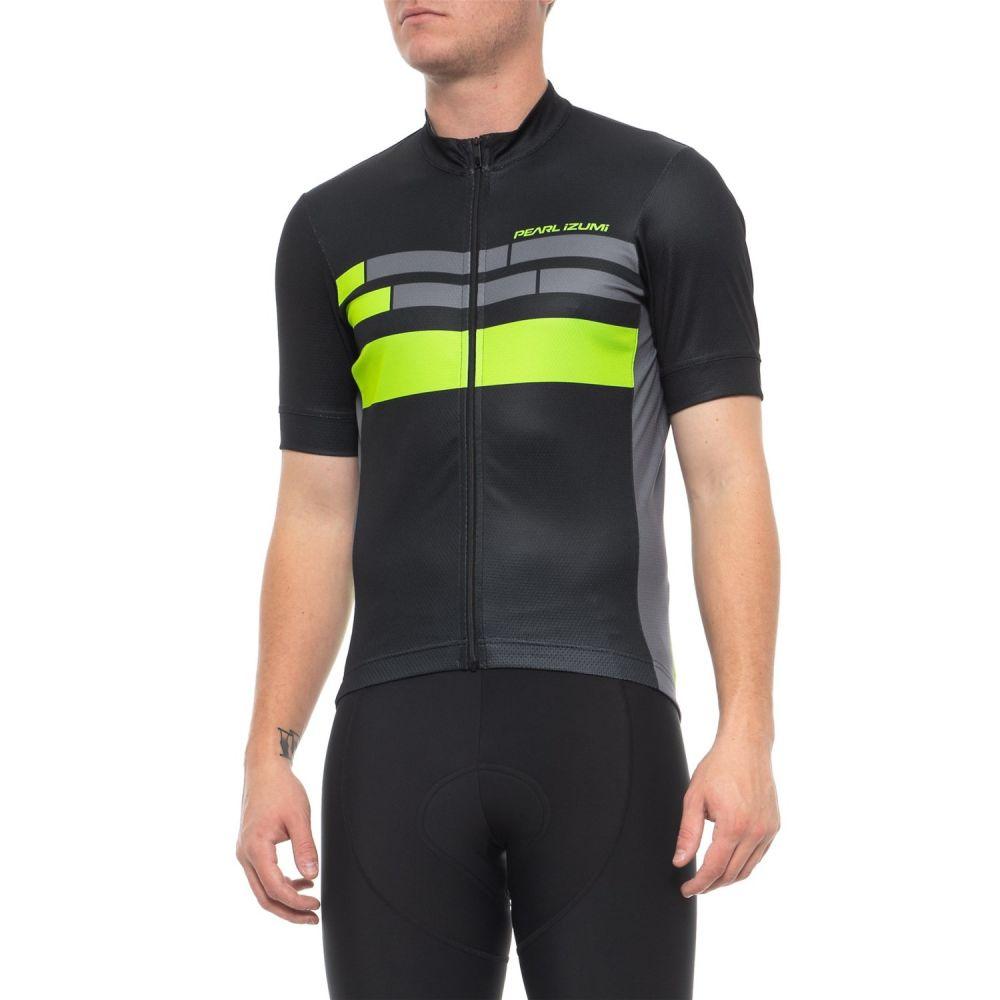 パールイズミ Pearl Izumi メンズ 自転車 トップス【ELITE Escape Graphic Cycling Jersey - Full Zip, Short Sleeve】Black/Screaming Green Segment