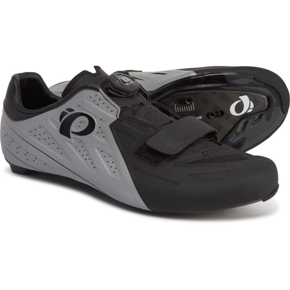 パールイズミ Pearl Izumi メンズ 自転車 シューズ・靴【ELITE Road v5 Cycling Shoes】Black/Silver Reflective
