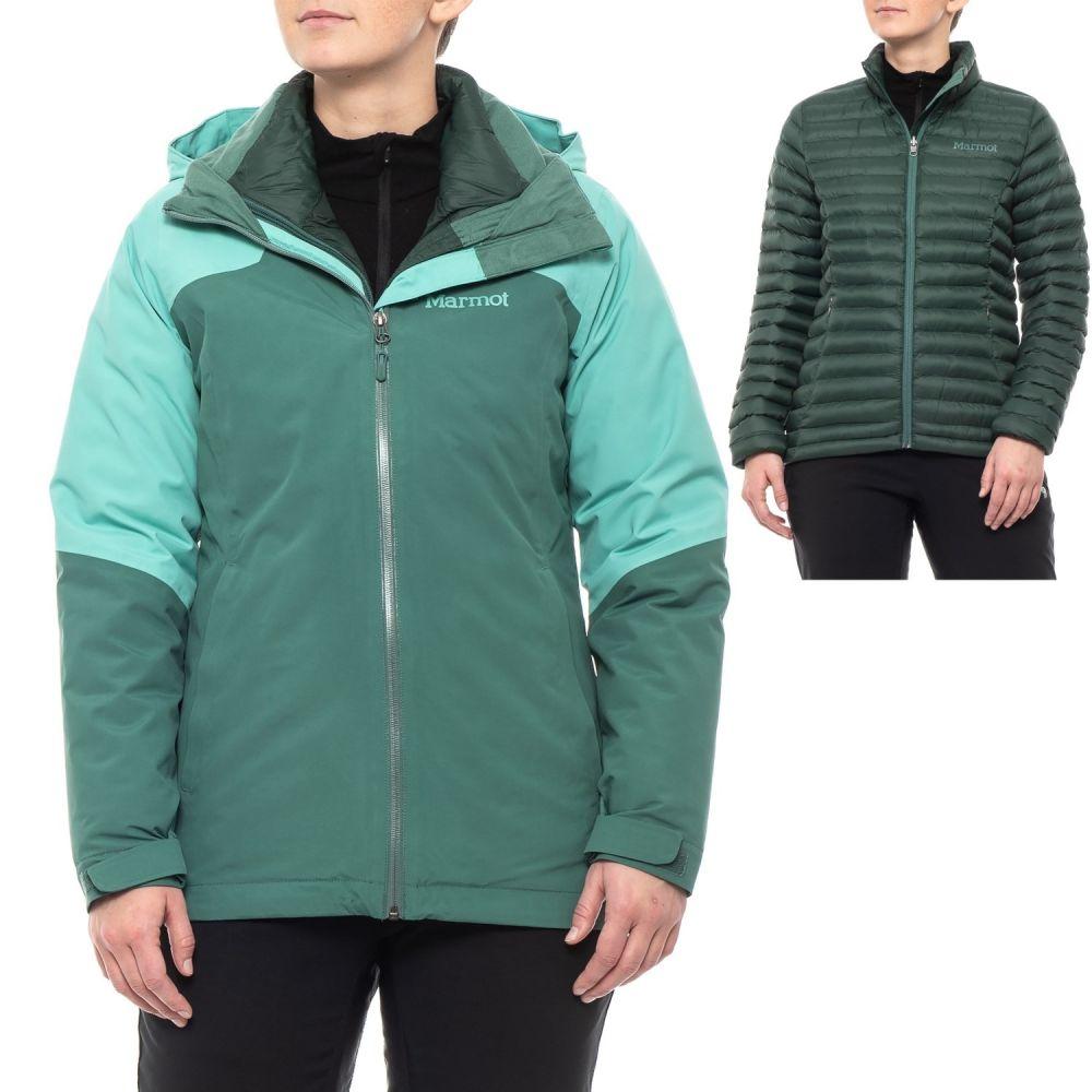 マーモット Marmot レディース ジャケット アウター【Featherless Component Jacket - Waterproof, Insulated, 3-in-1】Mallard Green/Meadowbrook