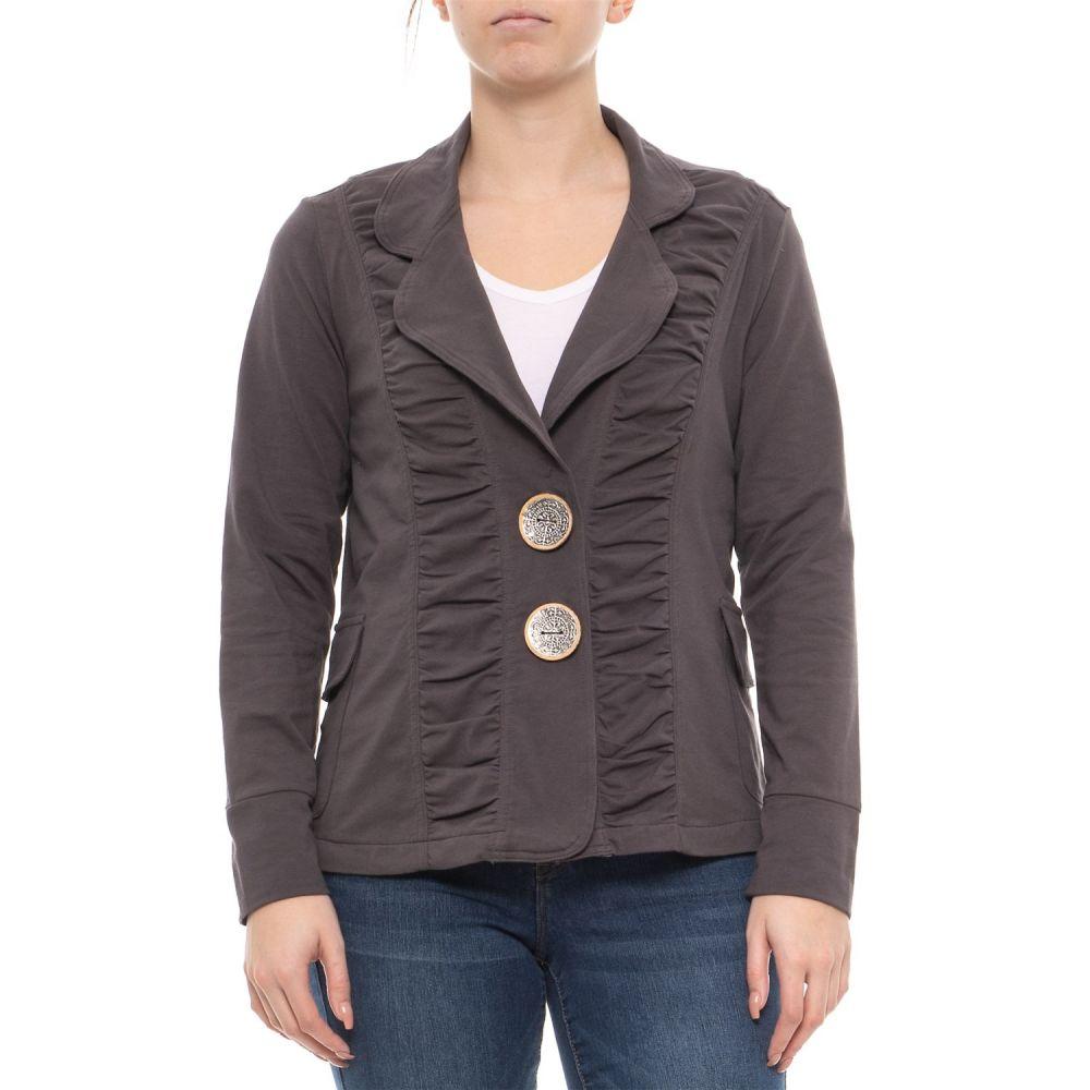 ネオンブッダ Neon Buddha レディース ジャケット アウター【Sustainable Charcoal Morgan Ruched Jacket】Sustainable Charcoal