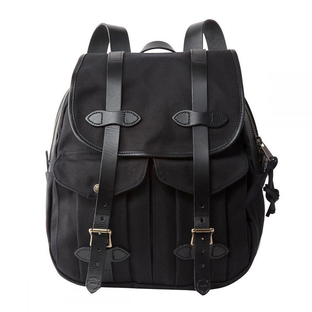 フィルソン Filson ユニセックス ハイキング・登山 バックパック・リュック【Rugged Twill Rucksack Backpack】Black