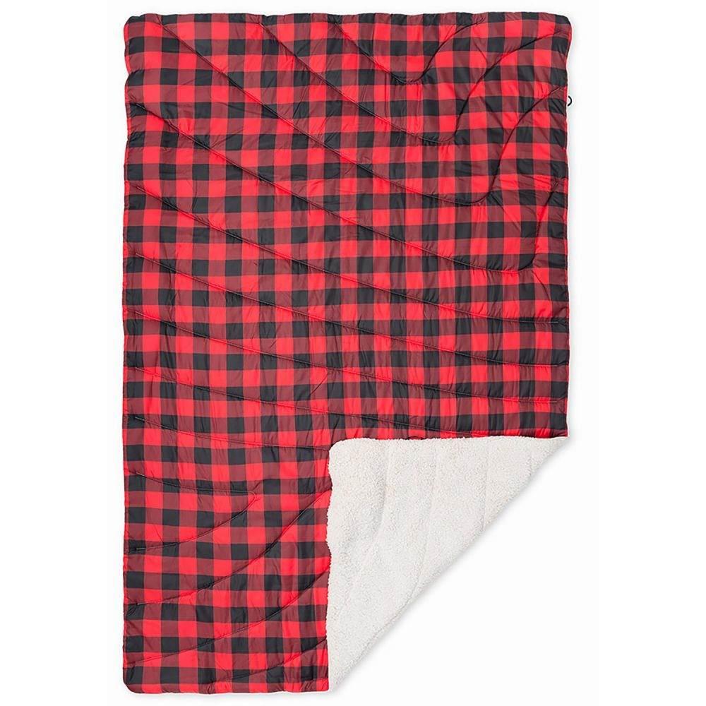 ルンプル RUMPL ユニセックス ハイキング・登山 ブランケット【The Sherpa Puffy Throw Blanket - 50x70】Red Buffalo Plaid