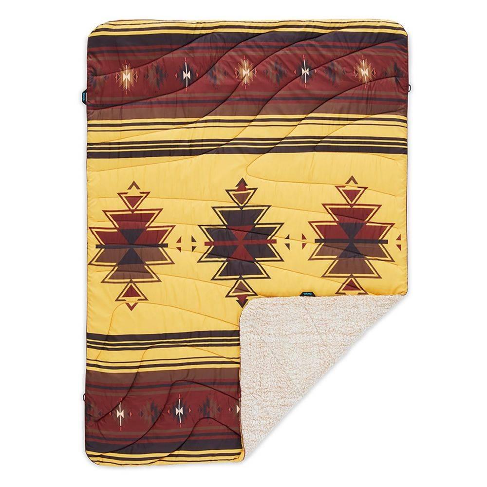 ルンプル RUMPL ユニセックス ハイキング・登山 ブランケット【The Sherpa Puffy Throw Blanket - 50x70】Sunset Print
