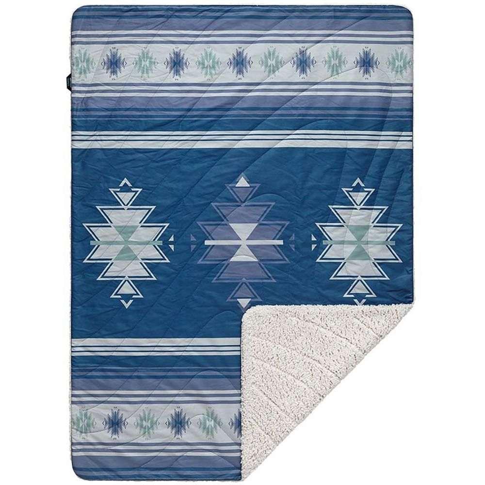 ルンプル RUMPL ユニセックス ハイキング・登山 ブランケット【The Sherpa Midweight Throw Blanket - 50x70】Misty Lomoro