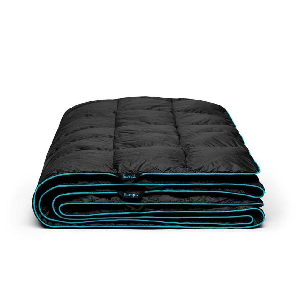 ルンプル RUMPL ユニセックス ハイキング・登山 ブランケット【The Down Puffy Throw Blanket - 88x84, 2-Person】Black/Cyan