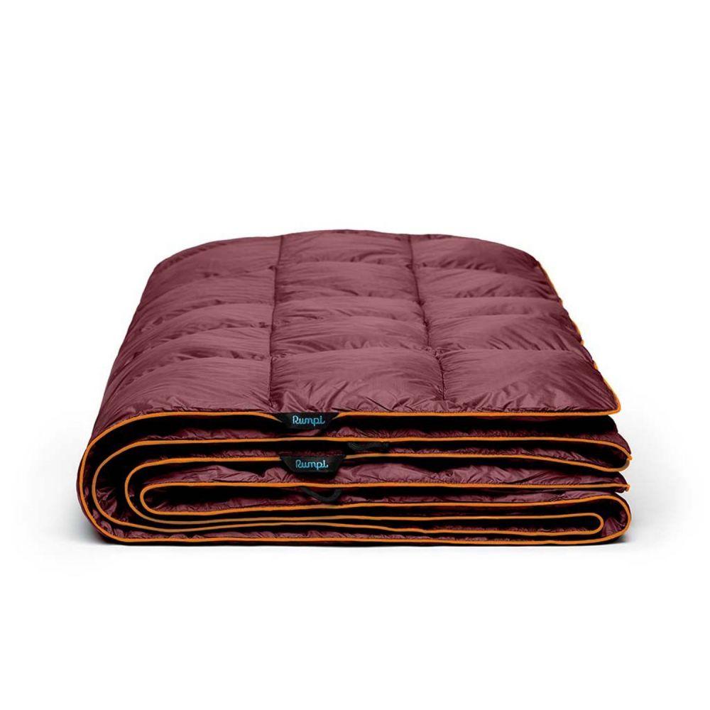 ルンプル RUMPL ユニセックス ハイキング・登山 ブランケット【The Down Puffy Throw Blanket - 88x84, 2-Person】Wine Red/Canyon Orange