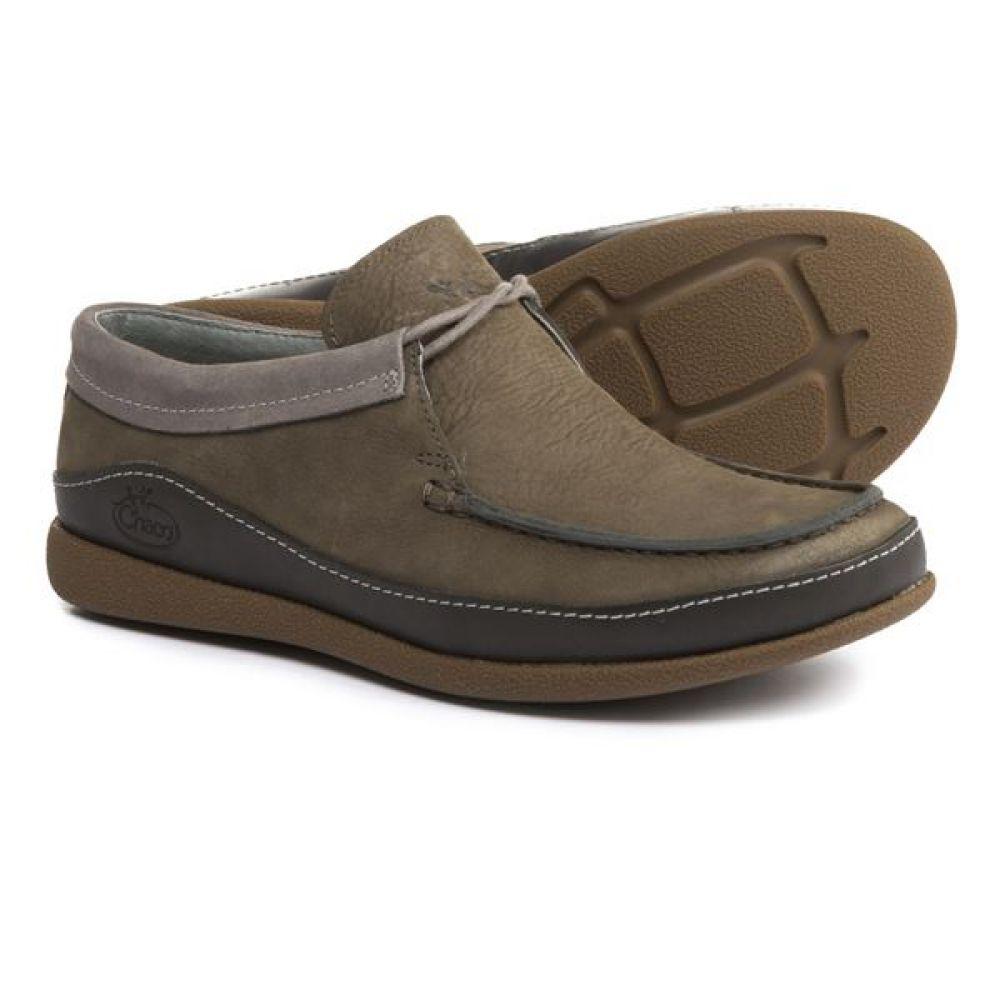 チャコ Chaco レディース スリッポン・フラット シューズ・靴【Pineland LUVSEAT Moc Shoes - Leather】Black