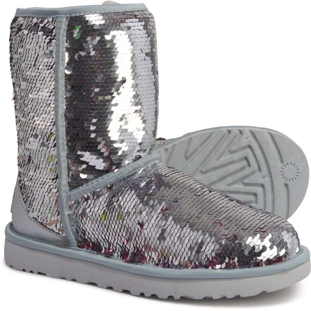 アグ UGG Australia レディース ブーツ シューズ・靴【Classic Short Sequin Boots】Silver