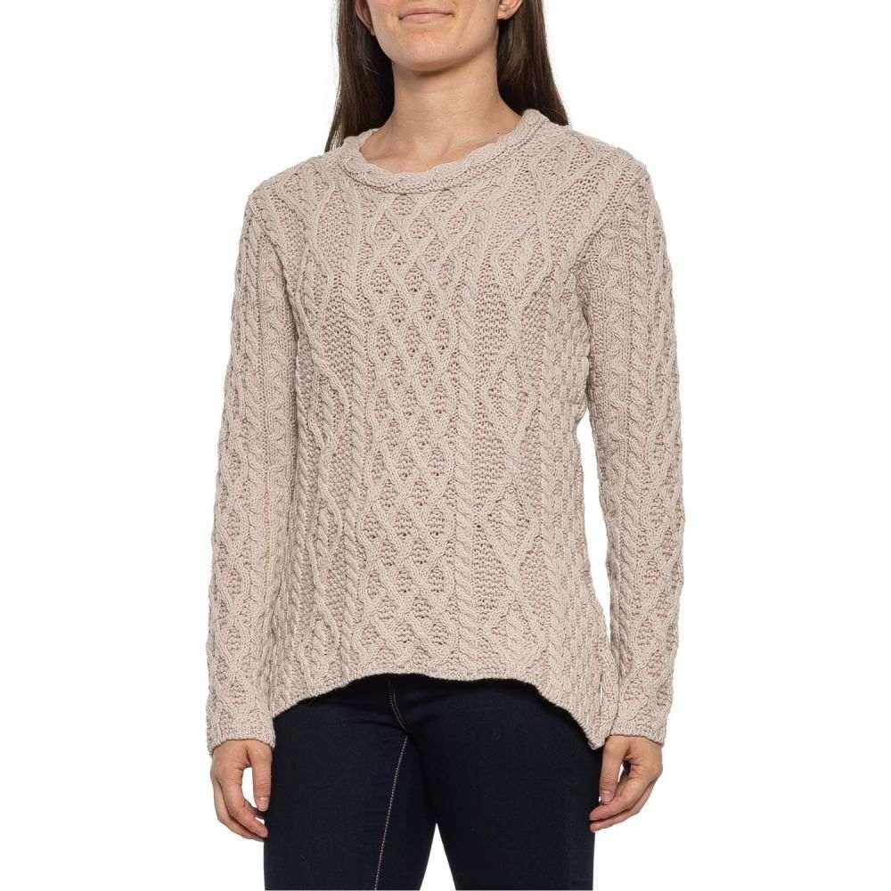 ペレグリン Peregrine レディース ニット・セーター トップス【Tan Aran Cable Neck Jumper Sweater - Merino Wool】Tan