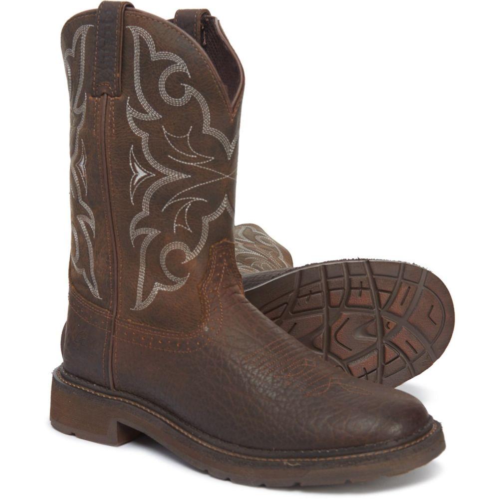 ジャスティン Justin メンズ ブーツ ワークブーツ シューズ・靴【Amarillo Pull-On Work Boots - 11, Leather】Chocolate