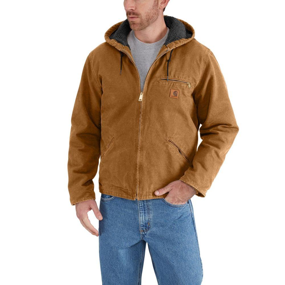 カーハート Carhartt メンズ ジャケット アウター【J141 Sierra Sherpa-Lined Jacket】Carhartt Brown