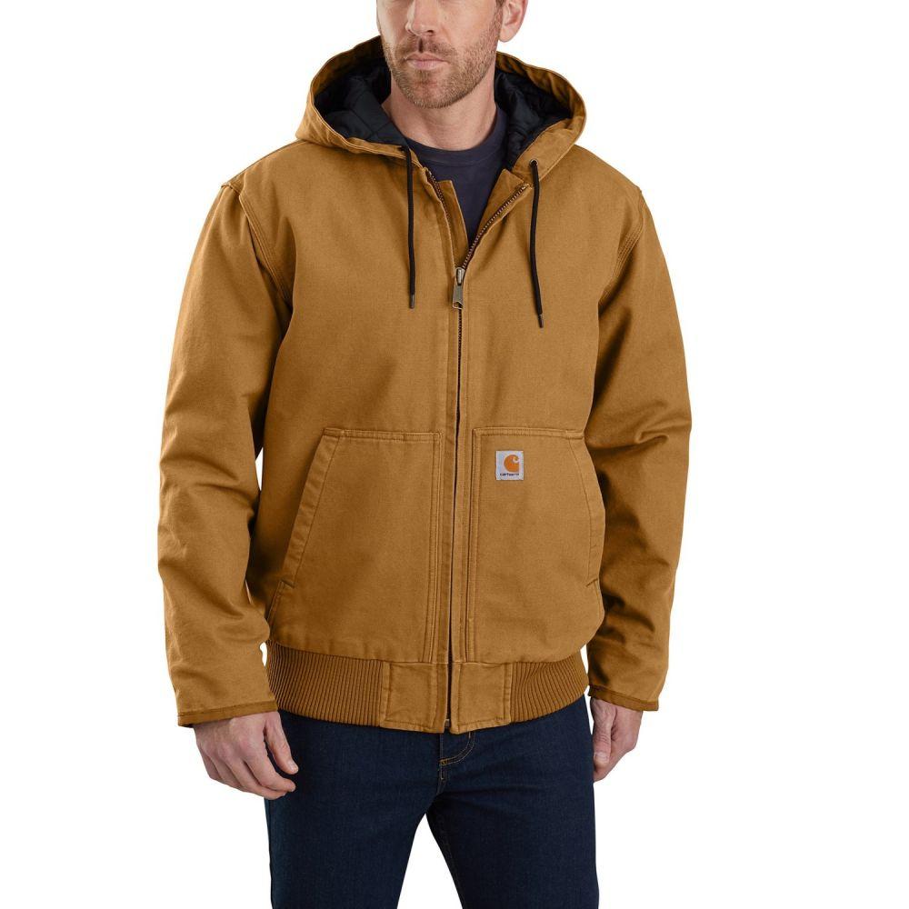 カーハート Carhartt メンズ ジャケット アウター【Lined Sandstone Active Jacket - Insulated】Carhartt Brown