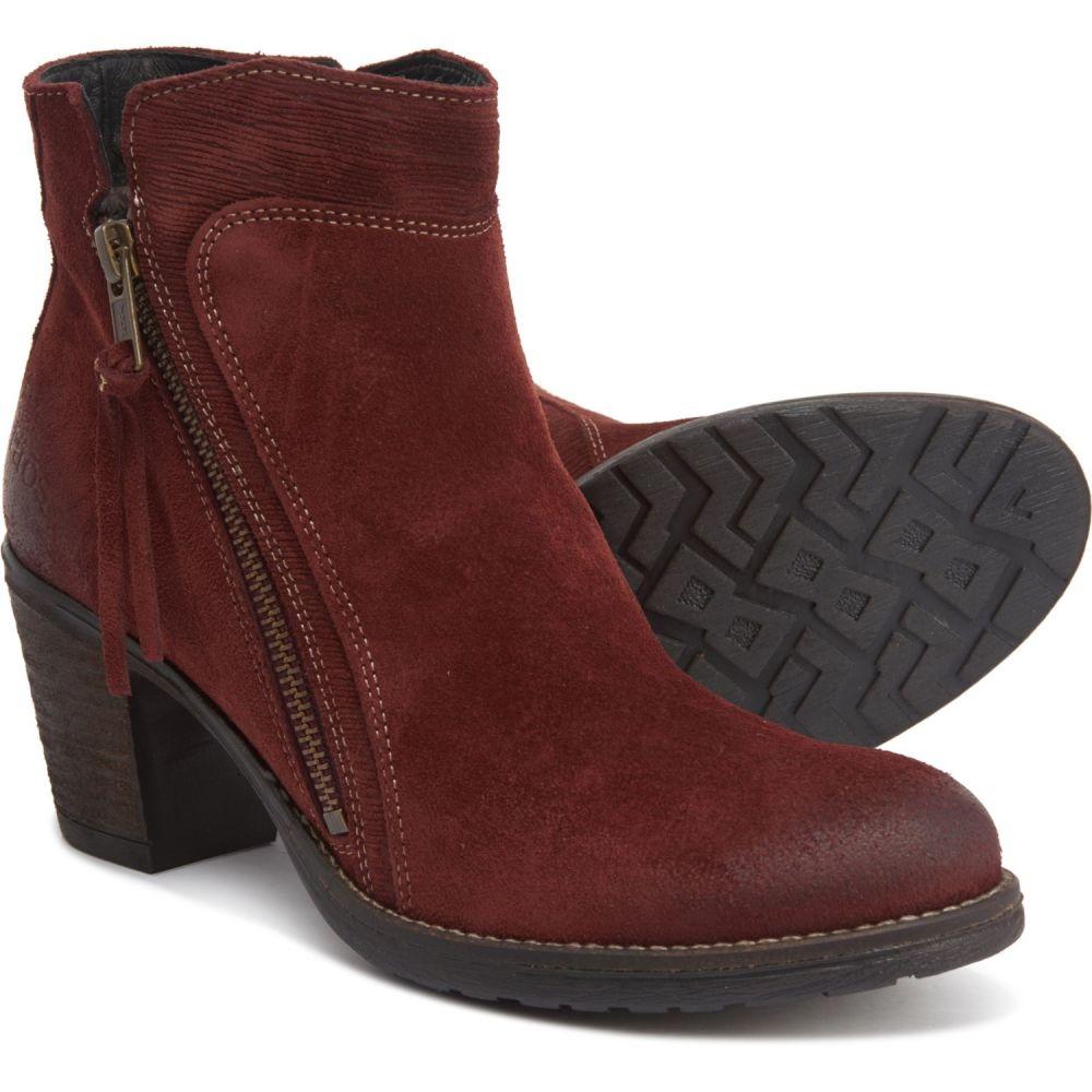 タオス Taos Footwear レディース ブーツ ブーティー シューズ・靴【Made in Portugal Dillie Booties - Suede】Wine