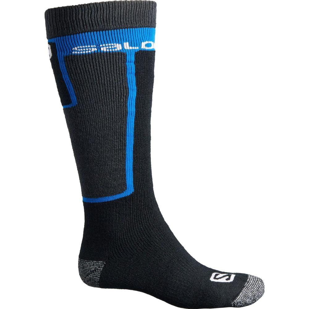 サロモン Salomon メンズ スキー・スノーボード ソックス【Elios2 Ski Socks - Over the Calf】黒/青