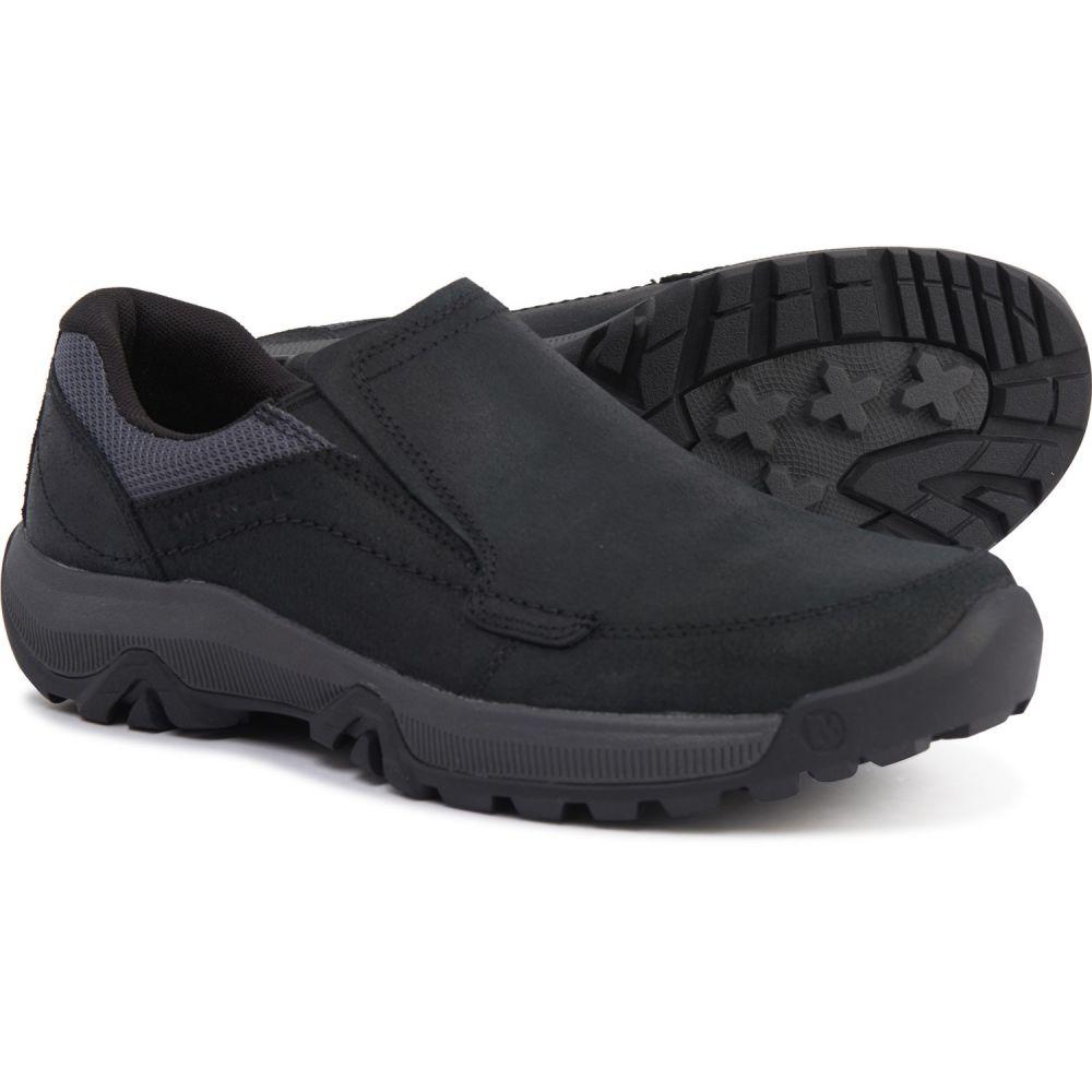 メレル Merrell メンズ スリッポン・フラット シューズ・靴【Anvik Moc Shoes - Slip-Ons】Black