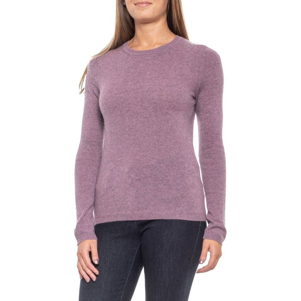 タハリ Tahari レディース ニット・セーター トップス【Orchid Heather Cashmere Sweater - Crew Neck】Orchid Heather