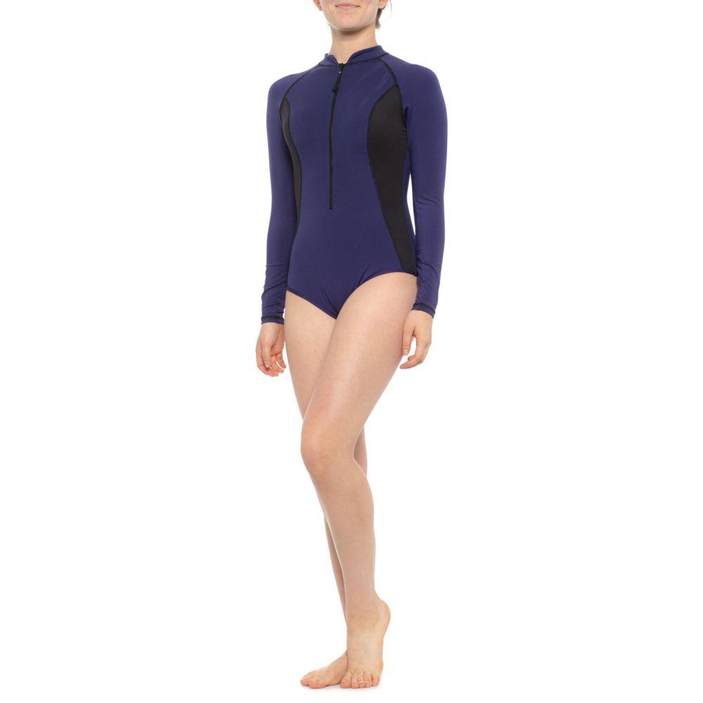 スパイダー Spyder レディース ワンピース 水着・ビーチウェア【Color-Block One-Piece Swimsuit - Long Sleeve】Navy/Black