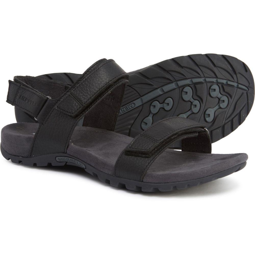 メレル Merrell メンズ サンダル スポーツサンダル シューズ・靴【Sandspur Leather Sport Sandals】Black