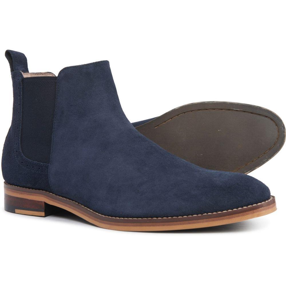 ジョンストン&マーフィー Johnston & Murphy メンズ ブーツ チェルシーブーツ シューズ・靴【Carriker Chelsea Boots - Suede】Navy Suede