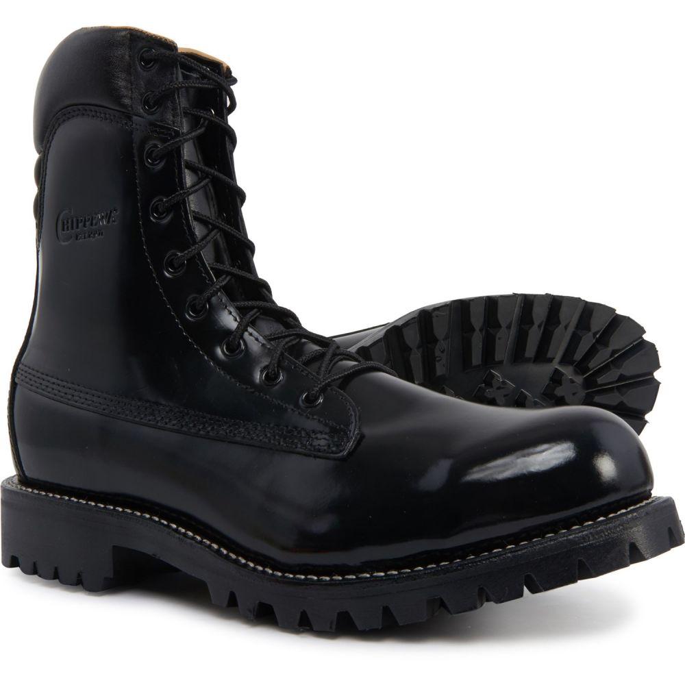 チペワ Chippewa メンズ ブーツ ワークブーツ シューズ・靴【Ruttman Tactical 8 Work Boots - Leather, Steel Safety Toe】Black Polishable