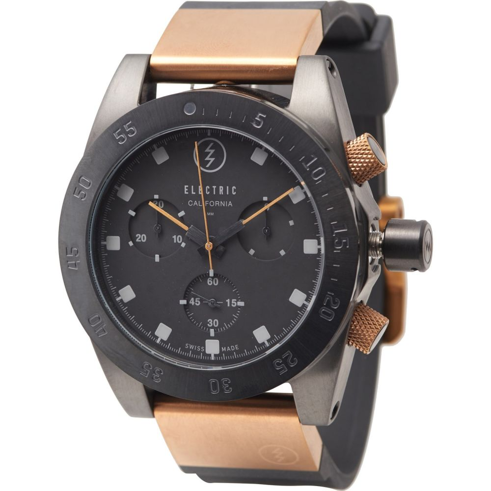 エレクトリック Electric メンズ 腕時計 【DW01 Swiss Combo Watch - Polyurethane-Stainless Steel Bands】Black/Copper