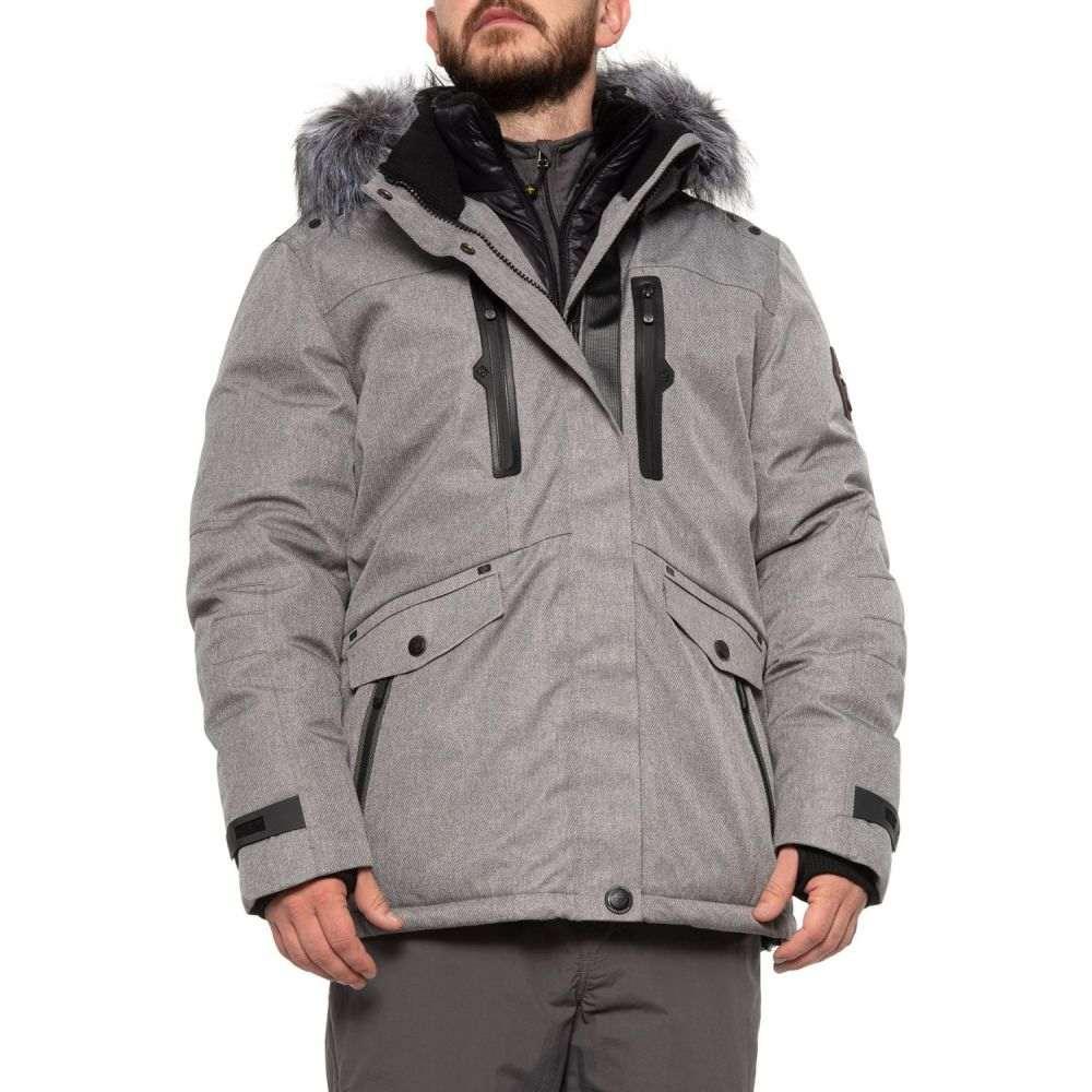 ポイントゼロ POINT ZERO メンズ ジャケット アウター【Textured Twill Polyfill Jacket - Insulated】Grey Mix