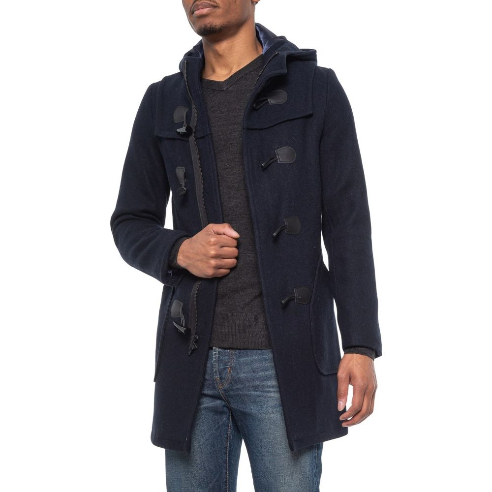 ショット ニューヨーク Schott NYC メンズ コート ダッフルコート アウター【Satin Lined Wool Duffle Coat】New Navy