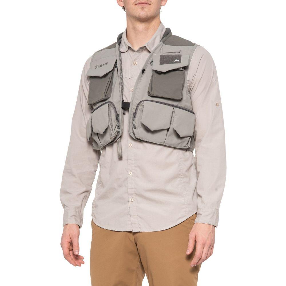 シムズ Simms メンズ 釣り・フィッシング トップス【Freestone Fishing Vest】Smoke