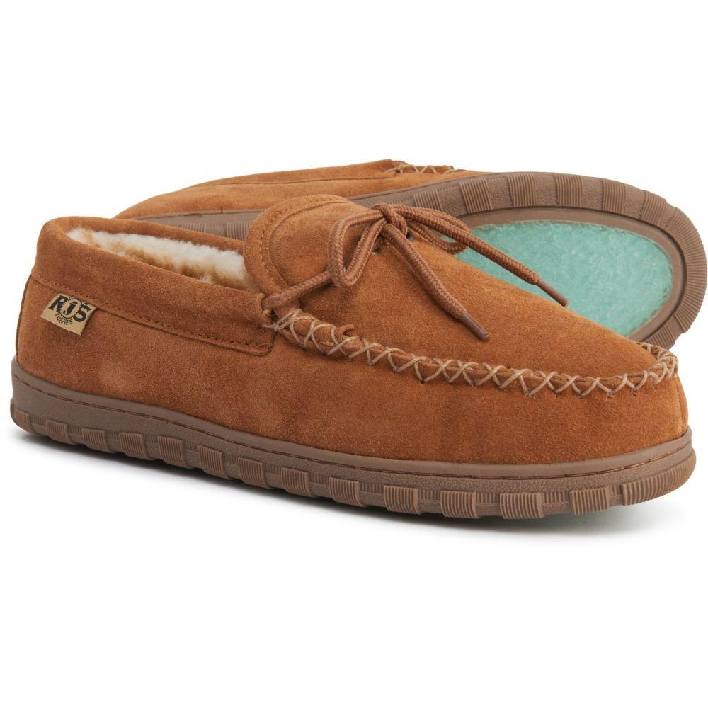 アールジェイズファジーズシープスキン RJ'S Fuzzies Sheepskin メンズ スリッパ モカシン シューズ・靴【Moccasin Slippers - Sheepskin Lined】Chestnut