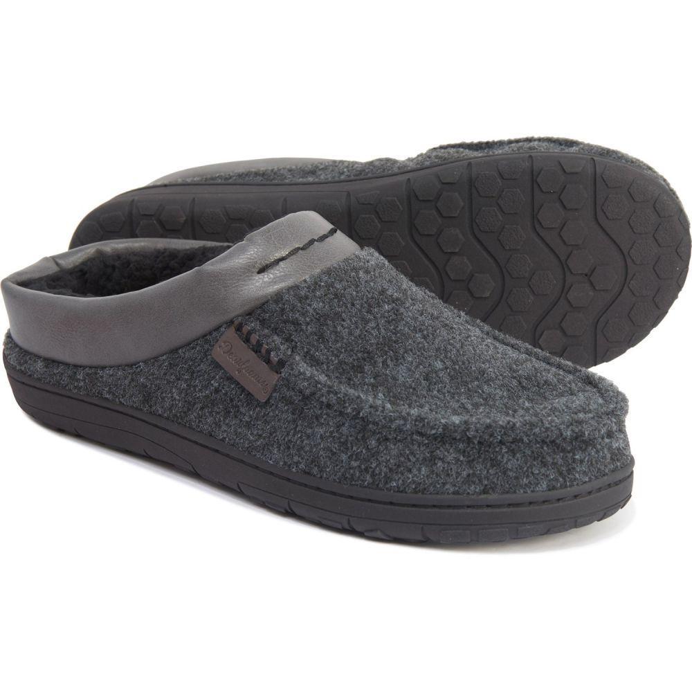 ディアフォームス Dearfoams メンズ スリッパ シューズ・靴【Felted Faux-Fur Clog Slippers】Black