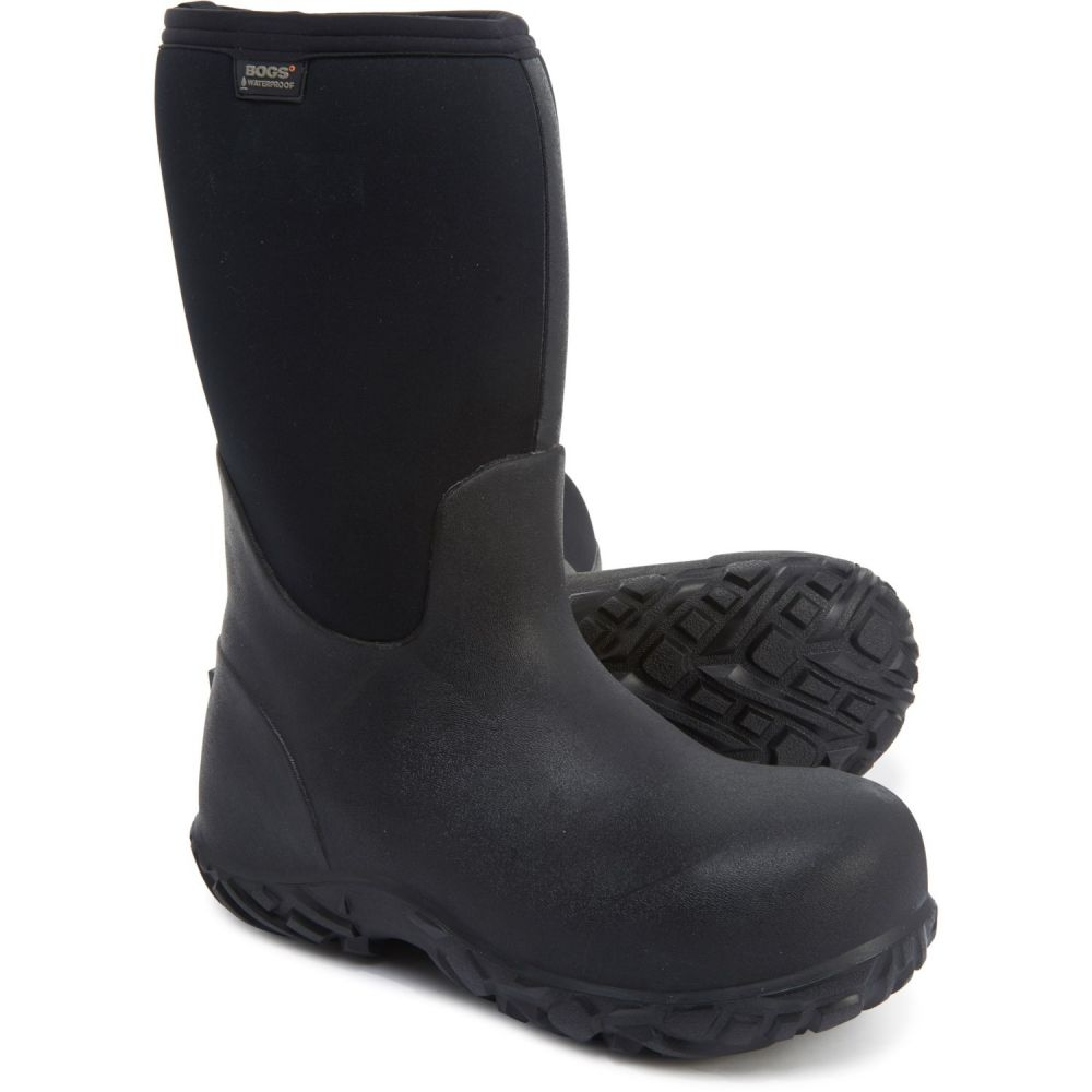 ボグスフットウェア Bogs Footwear メンズ ブーツ ワークブーツ シューズ・靴【Stockyard Neoprene Work Boots - Composite Safety Toe, Waterproof, Insulated】Black