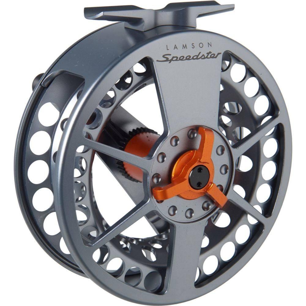 ラムソン Lamson ユニセックス 釣り・フィッシング 【Speedster 3 Fly Reel - 6-8wt】Grey/Orange