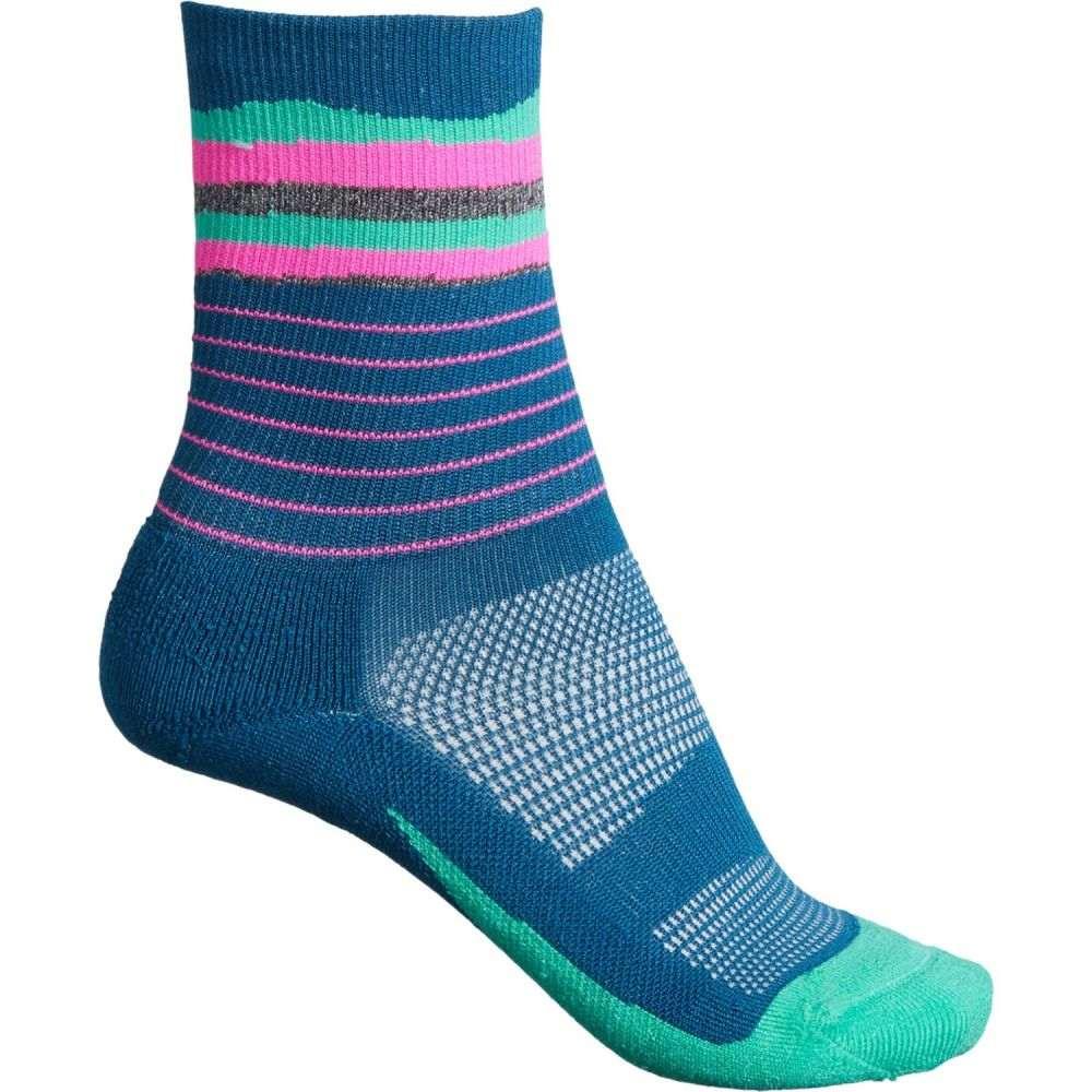フィーチャーズ Feetures ユニセックス ソックス インナー・下着【Blue Elite Light Cushion Socks - 3/4 Crew】Blue