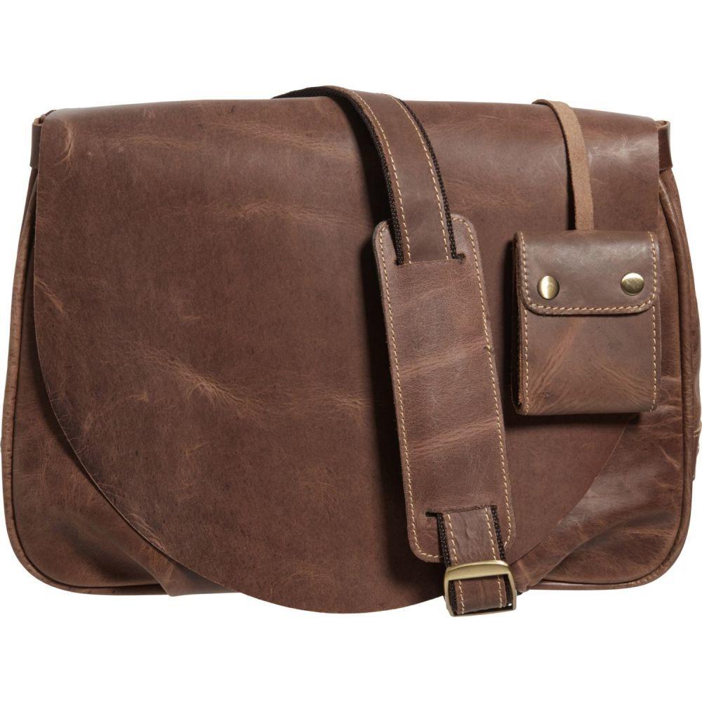 アメリレザー Amerileather レディース ショルダーバッグ バッグ【Vintage Flap-Over Messenger Bag - Leather】Distressed Dark Brown